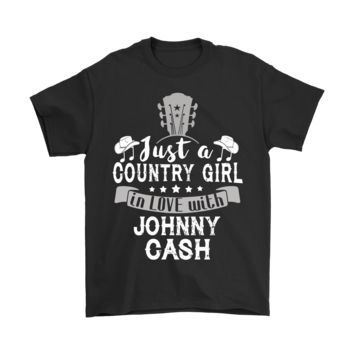 ESBINY Just A Country Girl In Love With Johnny Cash Shirts
