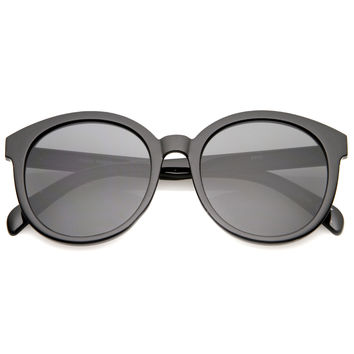 Women's Retro Round Horned Rim Sunglasses A467