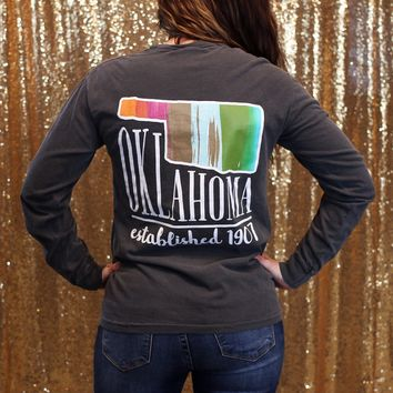 Long Sleeve Calamity Jane Oklahoma Water Color