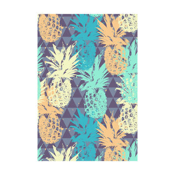 Pineapple on Triangle Adhesive Art Print