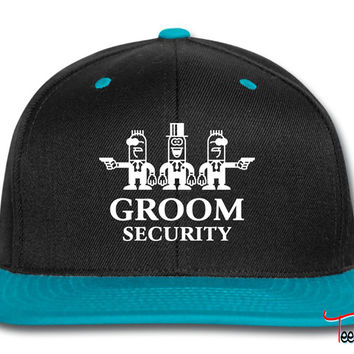 Groom Security Cartoon Snapback