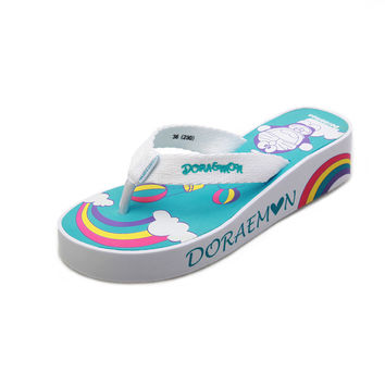 Outdoors High Heel Couple Fashion Anime Print Casual Slippers [4918336644]