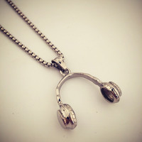 Jewelry Shiny Gift New Arrival Stylish Headphones Hip-hop Club Necklace [9095361159]