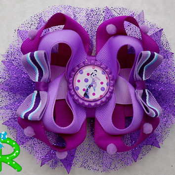 Fear hair bow ,Inside out  Boutique hair bow , lyered bow , stacked bow , inside out ott bow