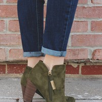 Out & About Booties - Olive