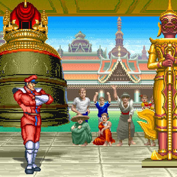 Street Fighter II M. Bison's Stage Video Game Poster