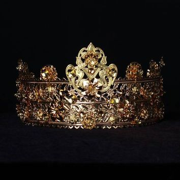 GORGEOUS Gold Crown Encrusted with Swarovski Crystals