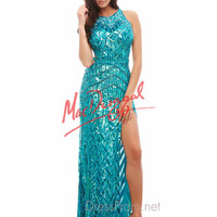 Mac Duggal High Neck Prom Dress 4158A
