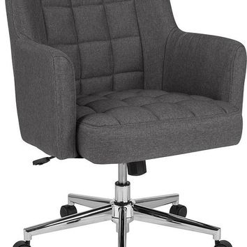 Laone Home and Office Upholstered Mid-Back Chair in Dark Gray Fabric [BT-1176-DGY-F-GG]