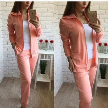 Orange 2-in-1 Zipper Pockets Sewing Mid-rise Fashion Long Jumpsuit