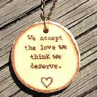 Perks of Being a Wallflower Wood Burned Birch by downtoearthcraft