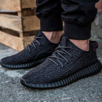 """Women Yeezy Boost """"Adidas"""" Sneakers Running Sports Shoes Black"""