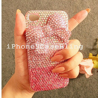 iPhone case, iPhone 4 Case, iPhone 4s Case, iPhone 5 Case, iPhone 5 bling case, bling iphone 4 case color gradient, iphone 4 case bow