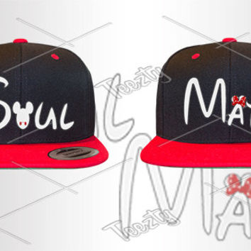 Soul Mate Snapback Snapbacks Mickey Minnie Mouse Snapback Snapbacks Matching Snapback Snapbacks Couple Snapback Snapbacks Hat Hats Cap Caps