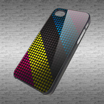 Polka Dot custom hard black / white plastic case for iPhone 4/4s and iPhone 5 case