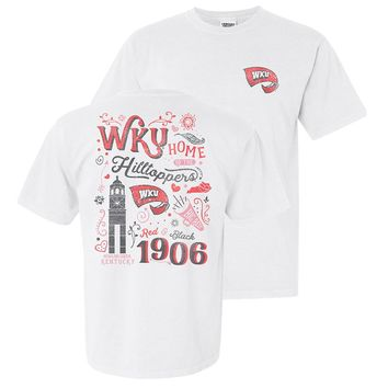 Western Kentucky Women's Comfort Colors Home of the Hilltoppers Tee