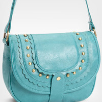 Turquoise Scallop Stud Purse