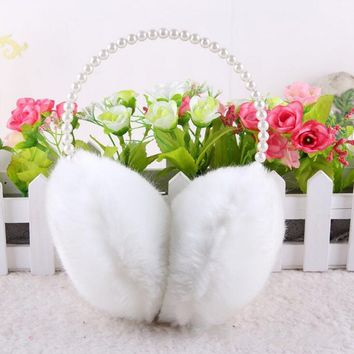 New Fashion Rabbit Fur Earmuffs Ear Muffs Ear Warmers Earmuffs Winter Outdoor Women Christmas Gifts