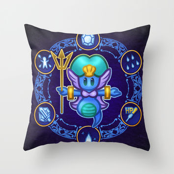 Undine Throw Pillow by Likelikes