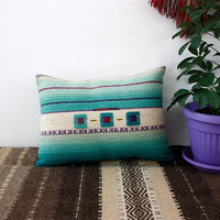 Handwoven wool pillow cover, handmade wool cover, kilim wool pillow case
