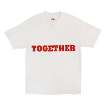 TOGETHER white graphic tee by Altru Apparel