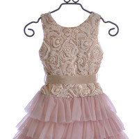Le Pink Boutique Tween Dress in Pink Rose