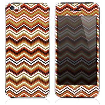 The Inverted Thin Lined Chevron Pattern v4 Skin for the iPhone 3, 4-4s, 5-5s or 5c