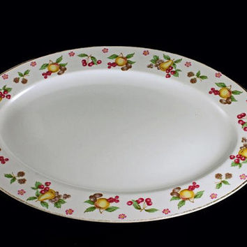 Platter, Empress China, Orchard Pattern