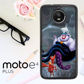 Ursula Octopus Little Mermaid D0096 Motorola Moto E4 Plus Case