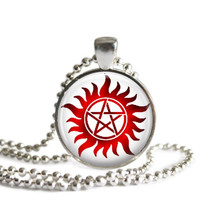 Red Anti Possession Necklace Handmade Supernatural Jewelry
