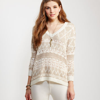 Sheer Oversized Sparkle Sweater
