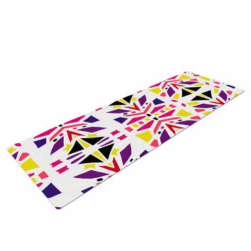 "Miranda Mol ""Summer Mood"" Yellow Purple Yoga Mat"