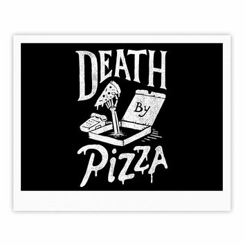 "Tatak Waskitho ""Death By Pizza"" Food Black Fine Art Gallery Print"