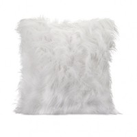 Wake Up Frankie - White Faux Fur Accent Pillow : Teen Bedding, Pink Bedding, Dorm Bedding, Teen Comforters