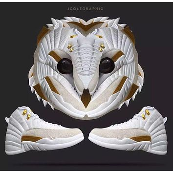 Air Jordan 12 Retro OVO White Basketball Shoe US5.5-13