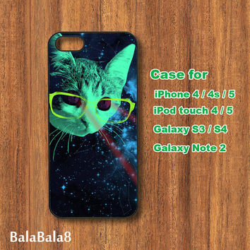 laser cat - iPhone  4 case, iphone 5 Case, iPod 4 case,  iPod 5 case,  Samsung Galaxy S3, samsung Galaxy S4 case, samsung Galaxy note 2