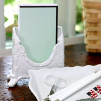 Emma Letter Holder and Tray Desk Set