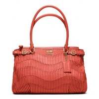 Coach :: Madison Gathered Leather Kara Carryall