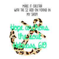 Hope Anchors The Soul Monogram Decal for Car, Yetis, Laptops, Phones and More!