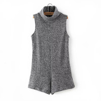 Women's Fashion Knit Sleeveless One-piece Romper [4917835524]