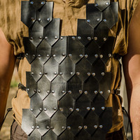 Black Leather scale mail armor