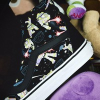 Vans Old Fashion Embroidery  Skool Flower Canvas Shoes Sport Flats Shoes Casual