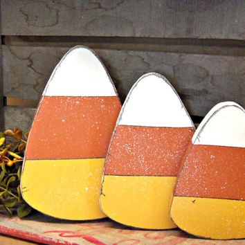 Wooden Candy Corn Seasonal Decorations Decor Shelf Sitters Set Of Primitive Shelf Sitters On Wanelo & Wooden Candy Corn Decoration - Home Decorating Ideas