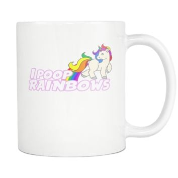 I Poop Rainbows Coffee Mug, 11 Ounce