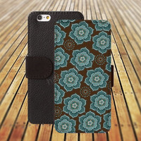 iphone 5 5s case Mandala  iphone 4/ 4s iPhone 6 6 Plus iphone 5C Wallet Case , iPhone 5 Case, Cover, Cases colorful pattern L072