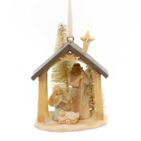 Foundations Nativity Hanging Ornament. Resin Ornament