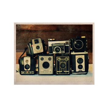 """Robin Dickinson """"Through the Years"""" Vintage Camera KESS Naturals Canvas (Frame not Included)"""