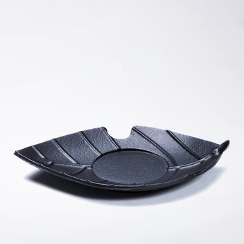 Japanese Style Iron Tea Cup Mats Leaf Shape Heat Resistant Mat Table Decoration Accessories High Quality Vintage Cup Pads