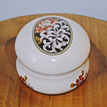 Vintage Duncan Enterprises Trinket Box, Ceramic Jewelry Box