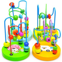 1pcs Children Kids Baby Colorful Wooden Mini Around Beads Educational Toy [7654711302]
